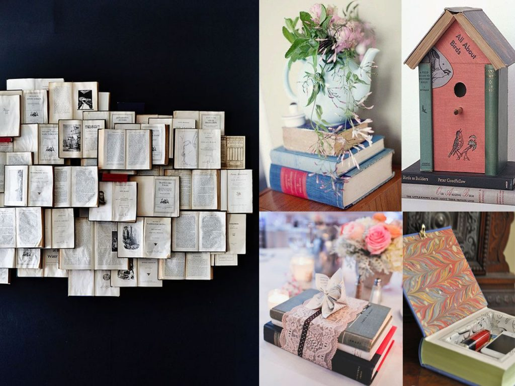 7 ideas originales para decorar con libros for Todo ideas originales para decorar