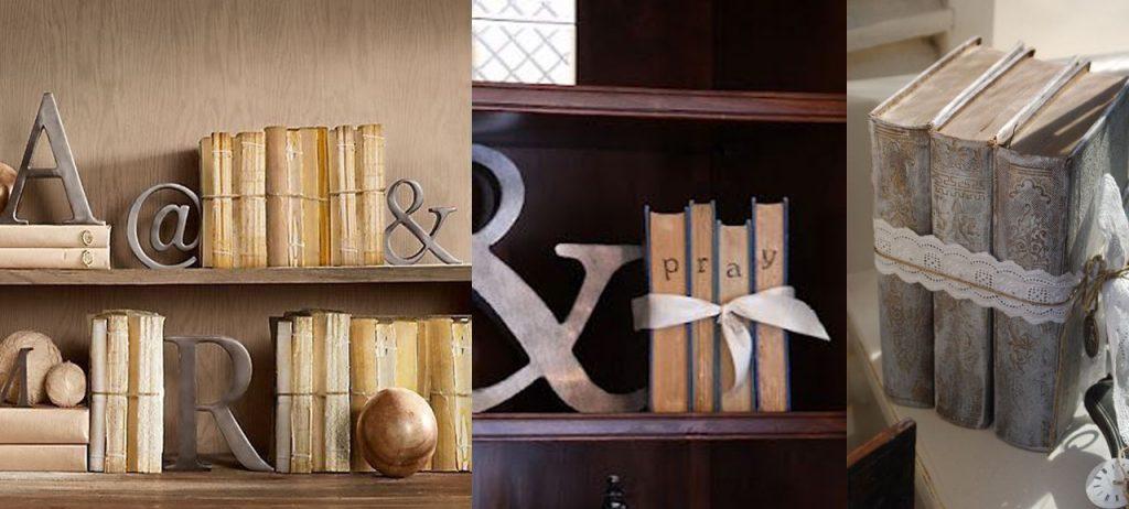 decorar libros con cuerdas