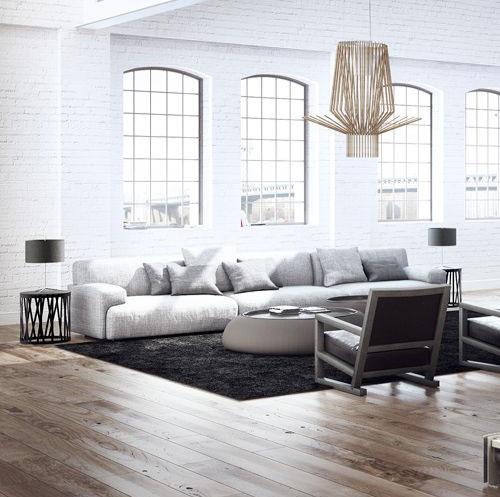 materiales para decoración minimalista