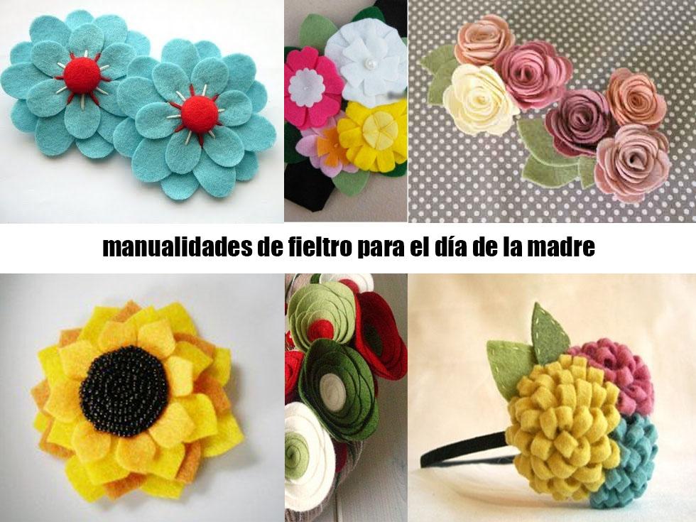 5 manualidades con fieltro para el d a de la madre for Decoracion del hogar con crochet