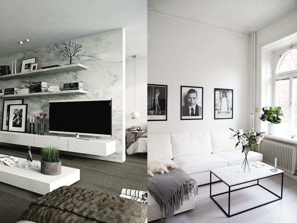 marmol en la decoración