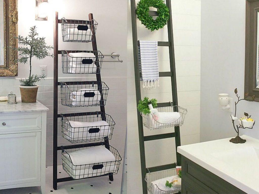 decorar el lavabo con escaleras