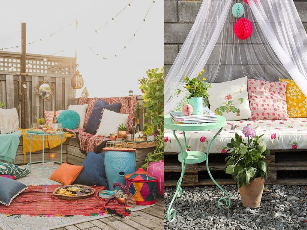 6 claves para la decoraci n de terrazas modernas boho chic - Decoracion patio exterior ...