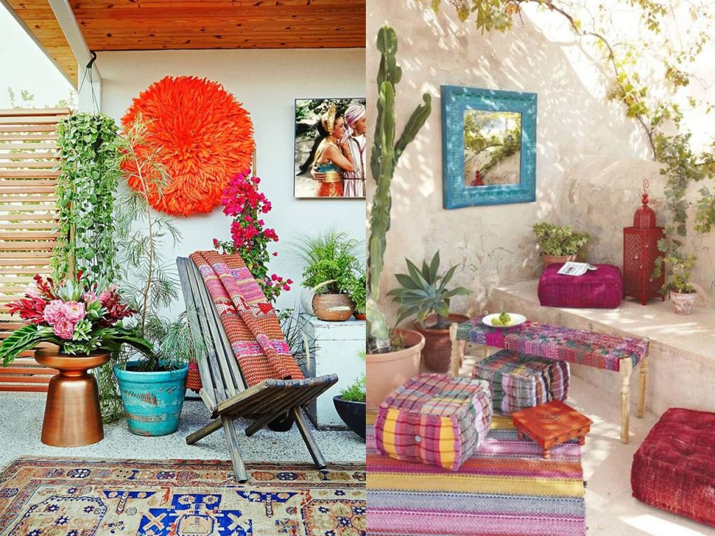 6 claves para la decoraci n de terrazas modernas boho chic for Decoracion de la pared para el exterior