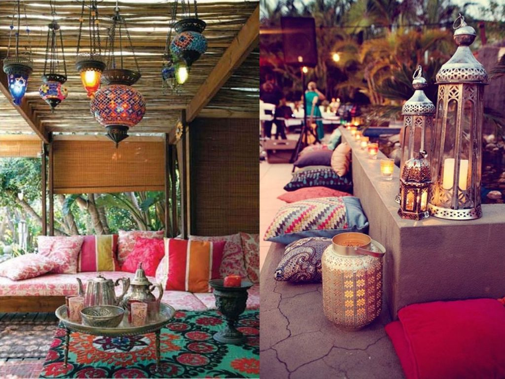 6 claves para la decoraci n de terrazas modernas boho chic for Farolillos de decoracion