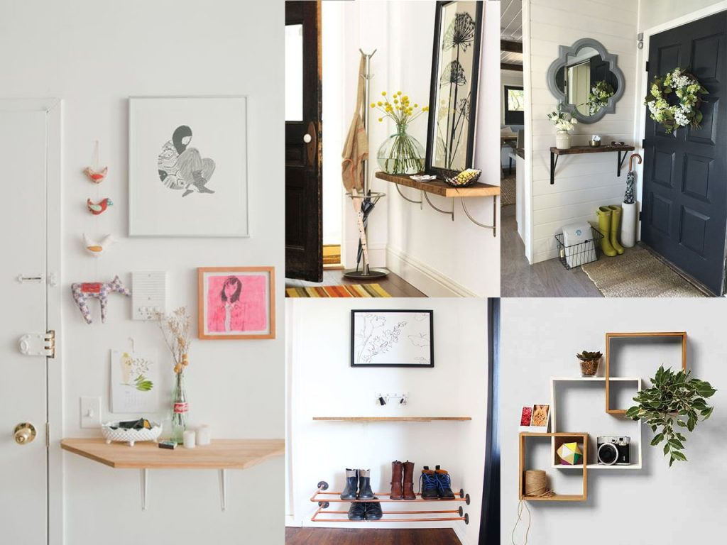 5 ideas sobre c mo decorar un recibidor peque o - Estanterias metalicas para casa ...