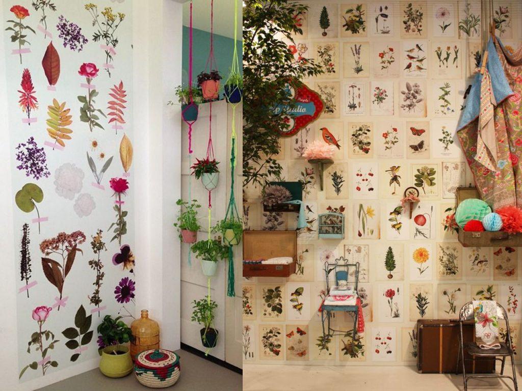 decoración con estampados florales