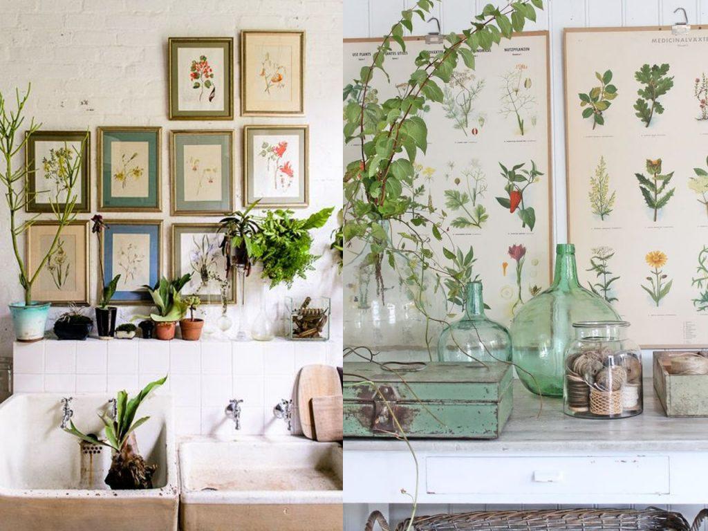 decoración botánica