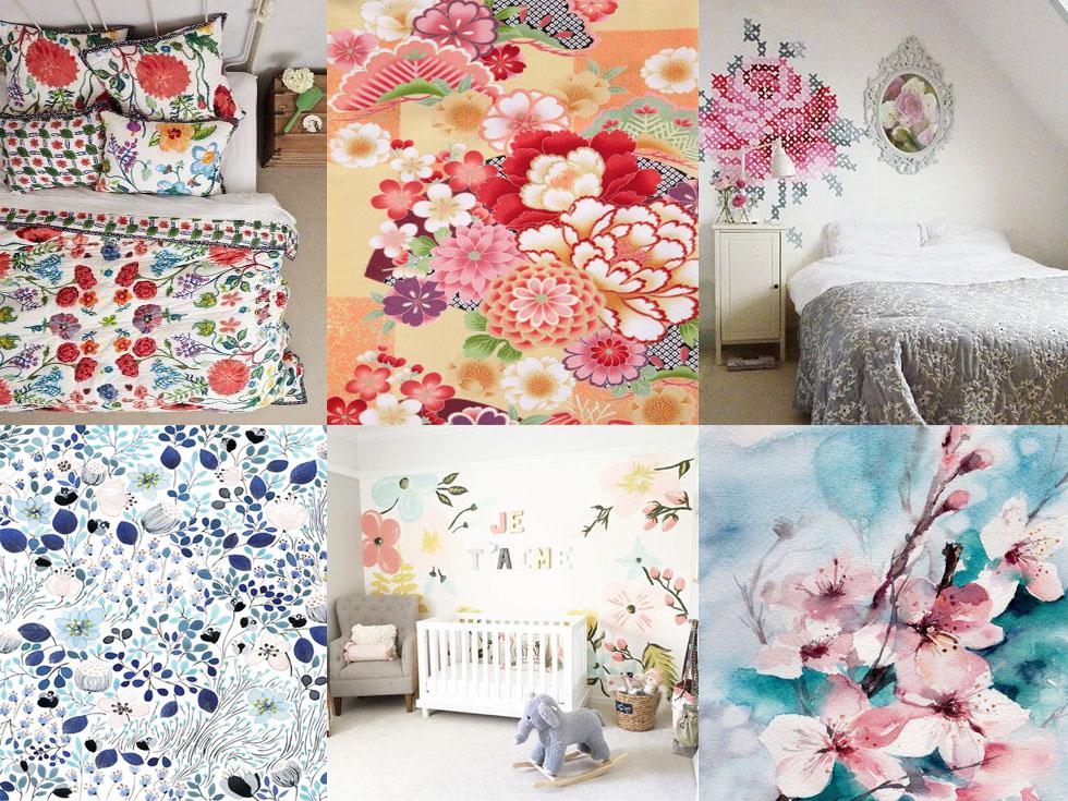 7 estampados de flores ideales para tu hogar