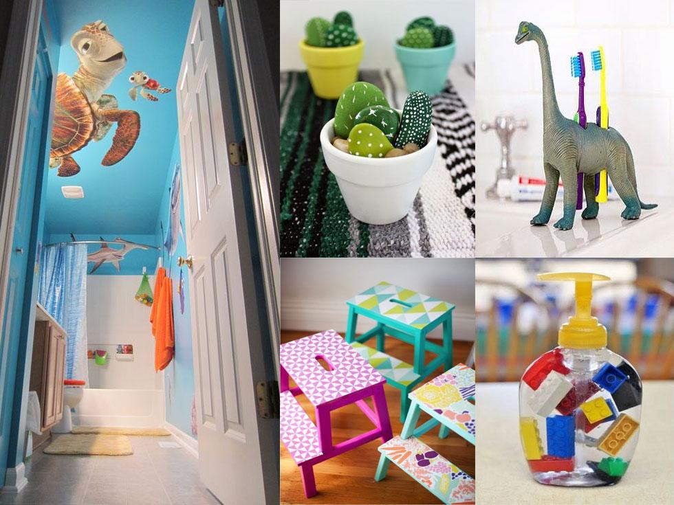 8 ideas para redecorar el baño de los niños