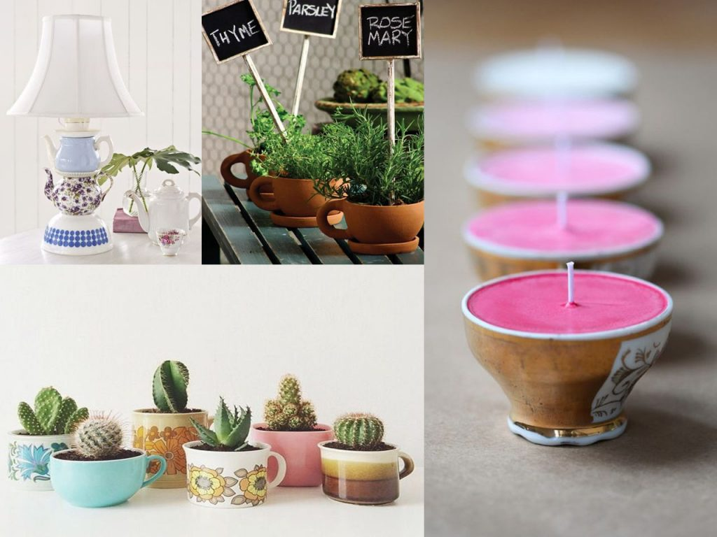 6 ideas para reciclar tazas y decorar for Ideas para decorar reciclando