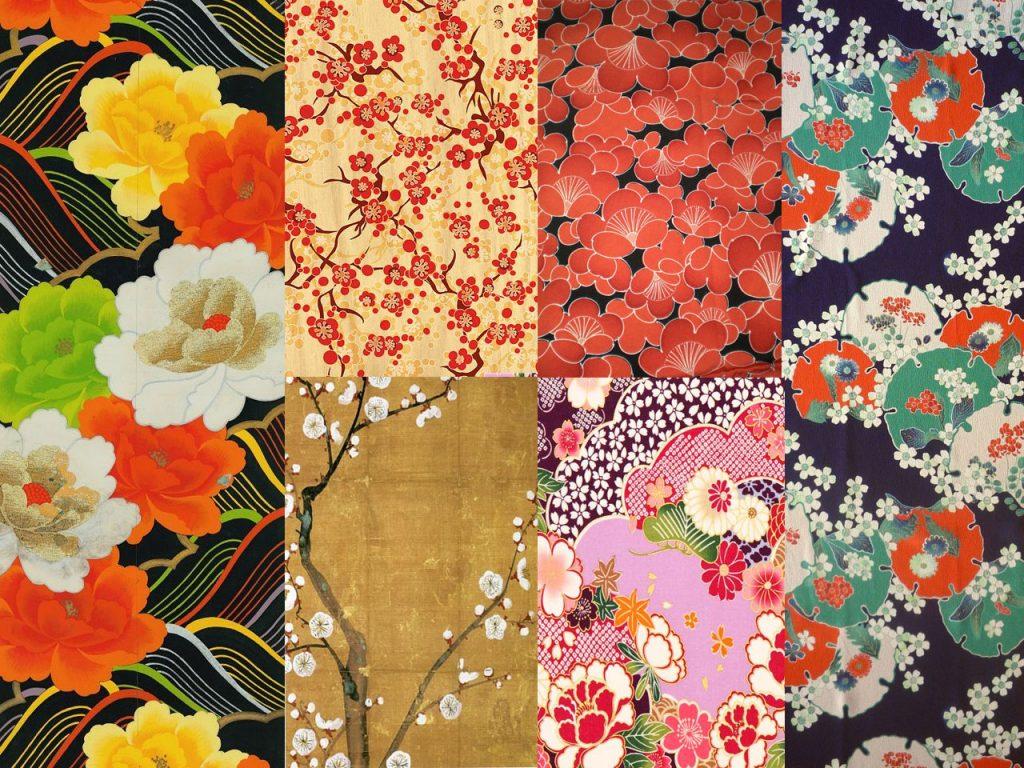 estampados de flores japoneses