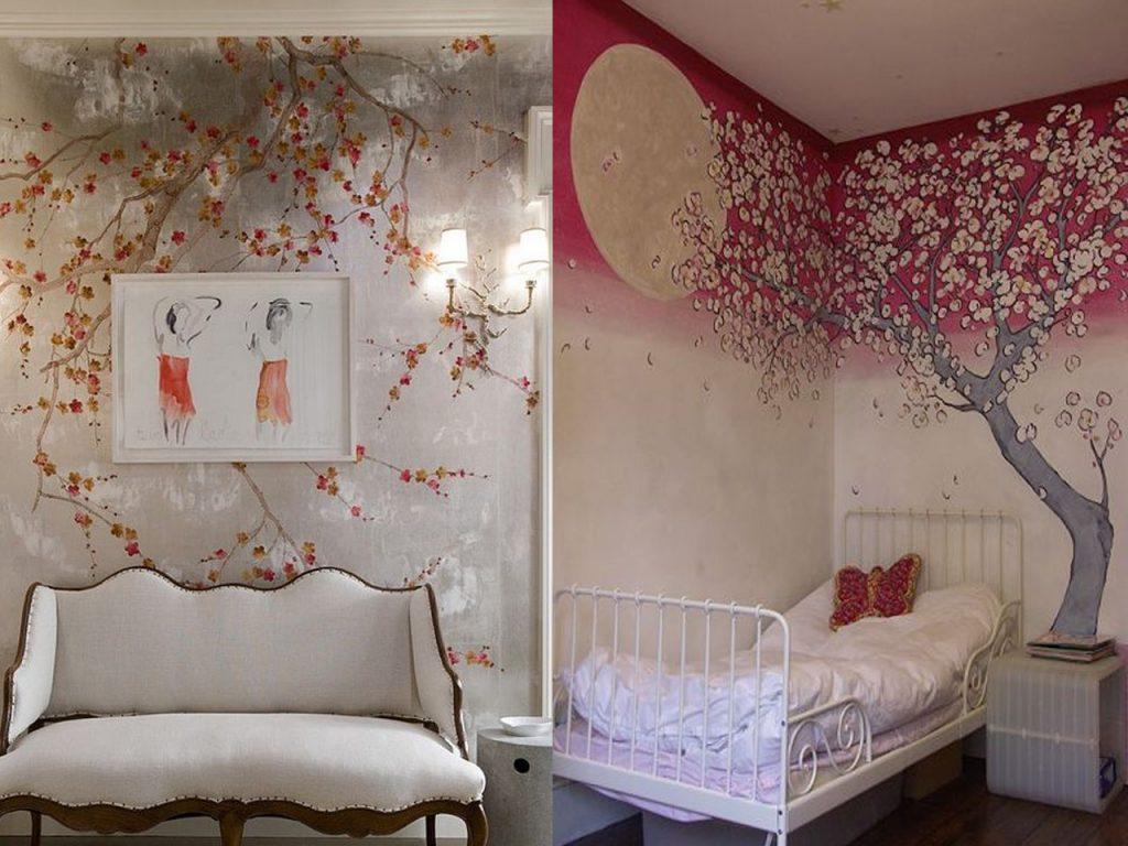 papeles de pared con estampados de flores