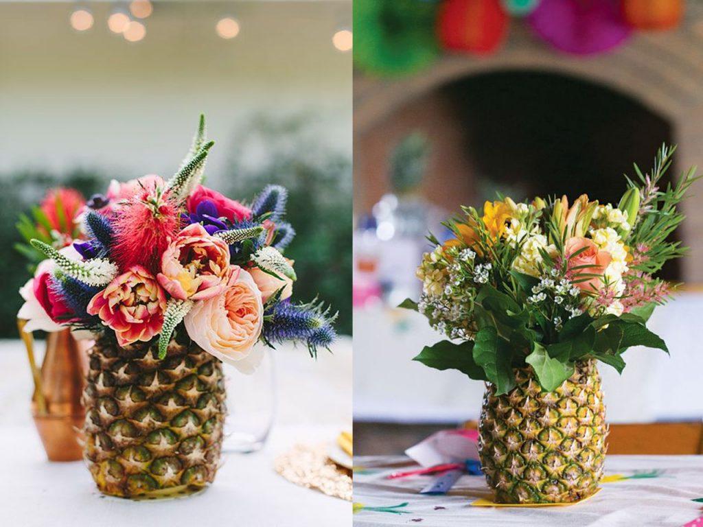 7 centros de mesa para la decoraci n de bodas originales - Decoracion navidena con pinas ...