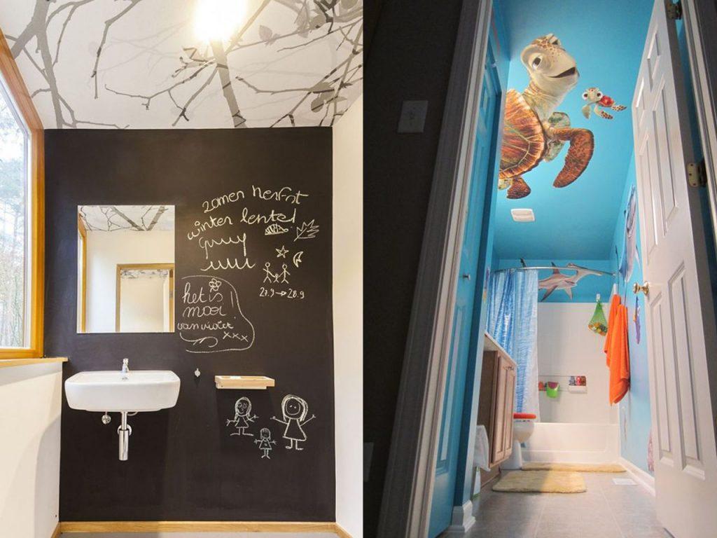 decorar el techo del baño