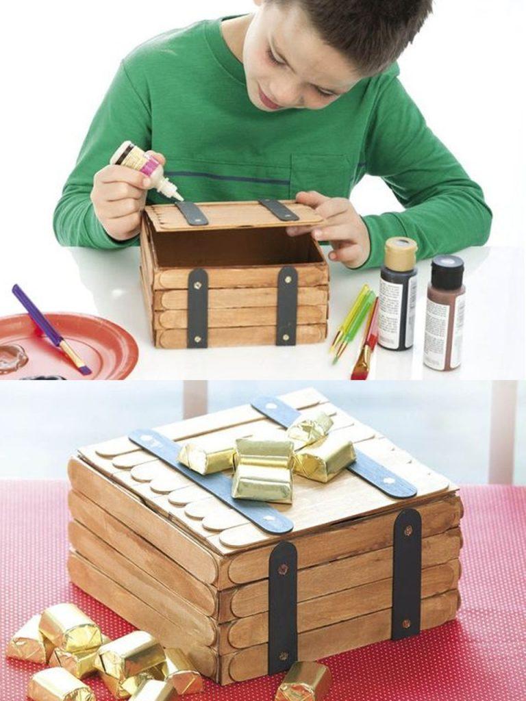 cómo hacer un cofre del tesoro