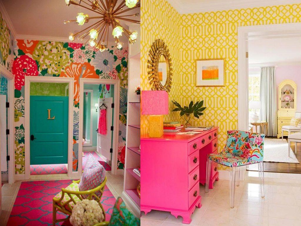 Habitaciones muy coloridas