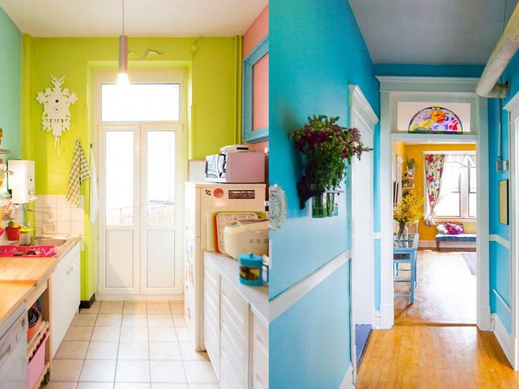 Habitaciones con diferentes colores