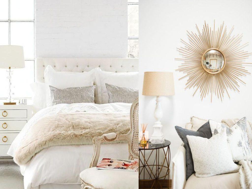 Toques de color en habitaciones blancas