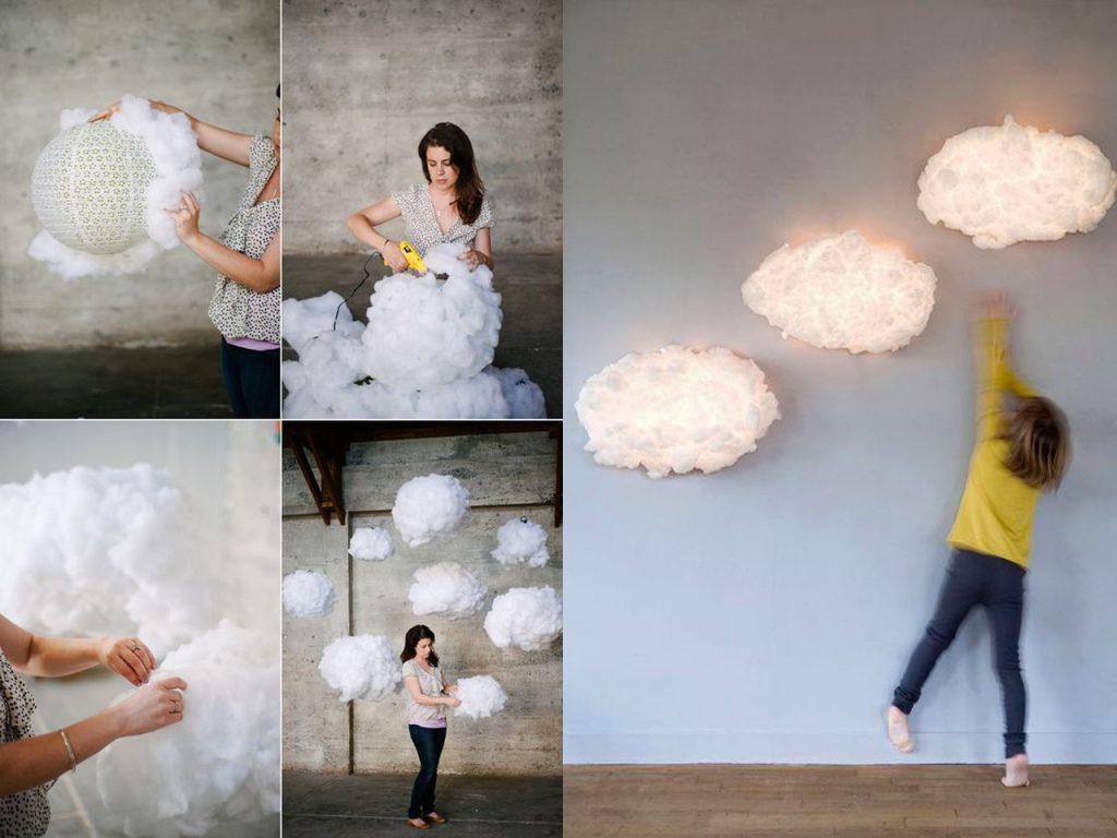 nubes de algodón decorativas