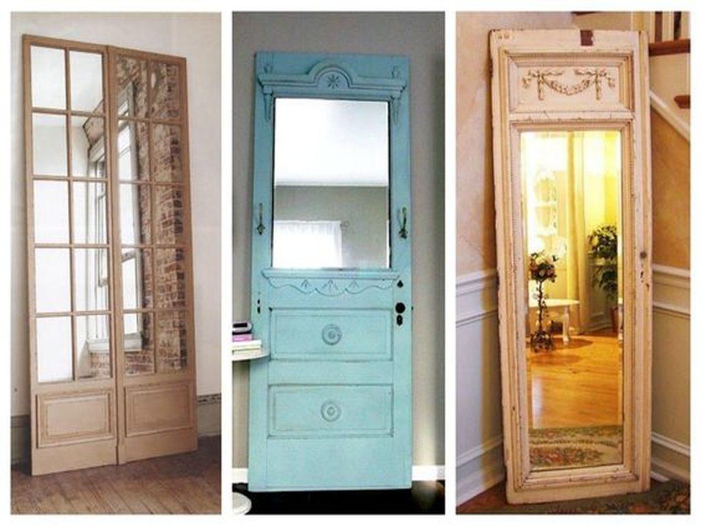 7 fant sticas ideas para reciclar puertas de madera for Espejos segunda mano barcelona