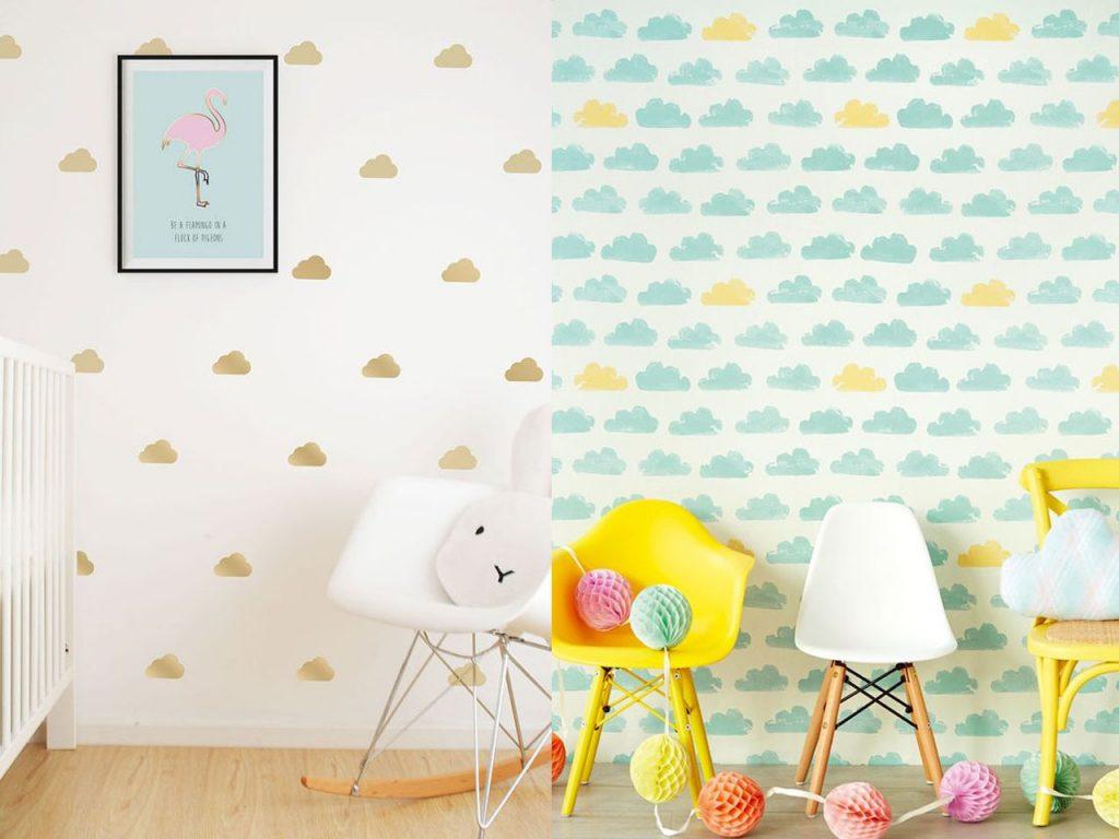 9 ideas de decoraci n con nubes para tu hogar - Plantillas pared ...