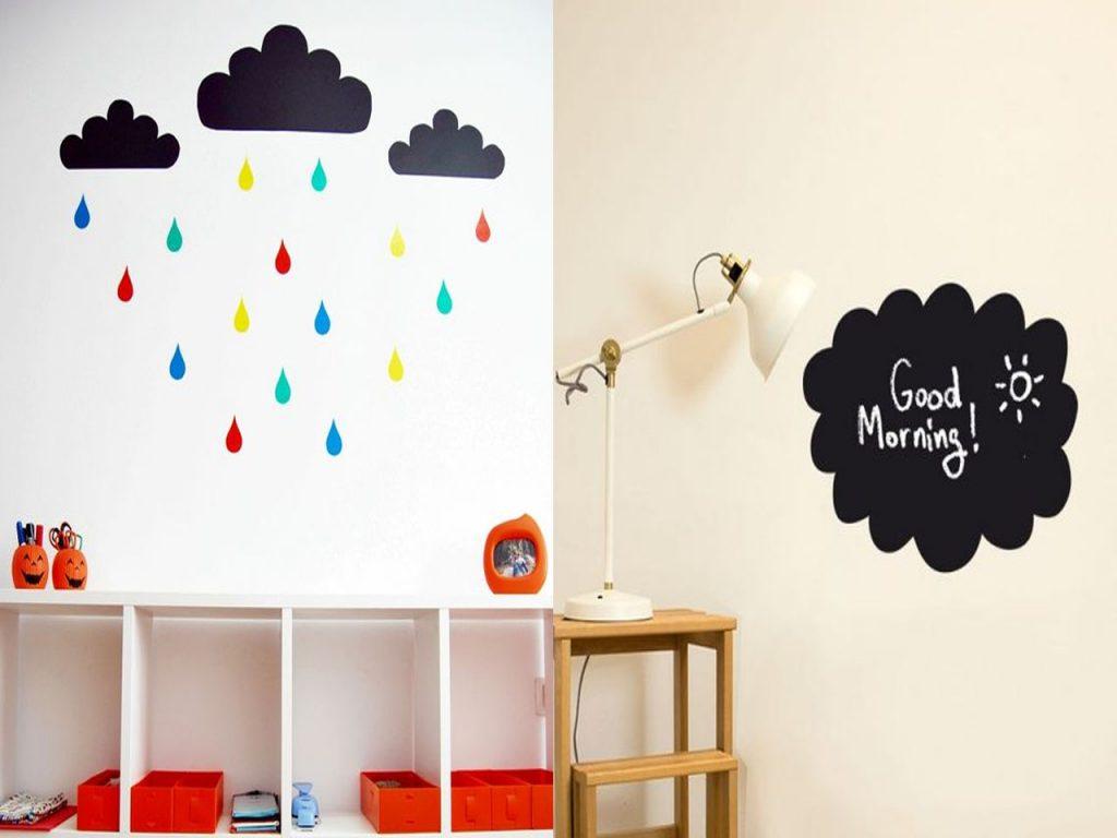 vinilos de pared en forma de nube