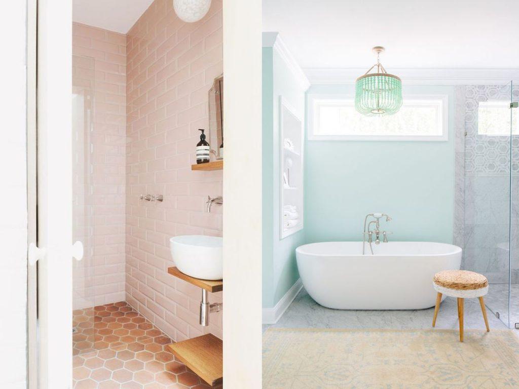 colores pastel para baños