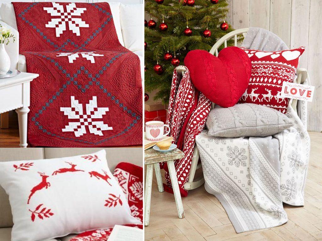 cojines decoración navideña nórdica