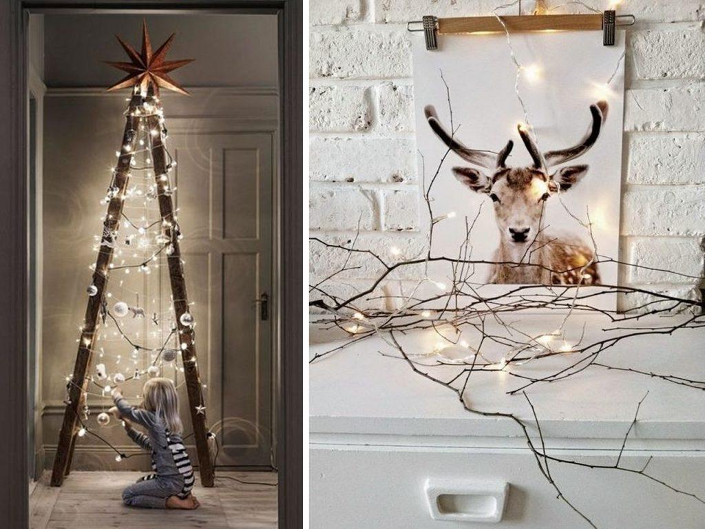 luz decoración navideña nórdica