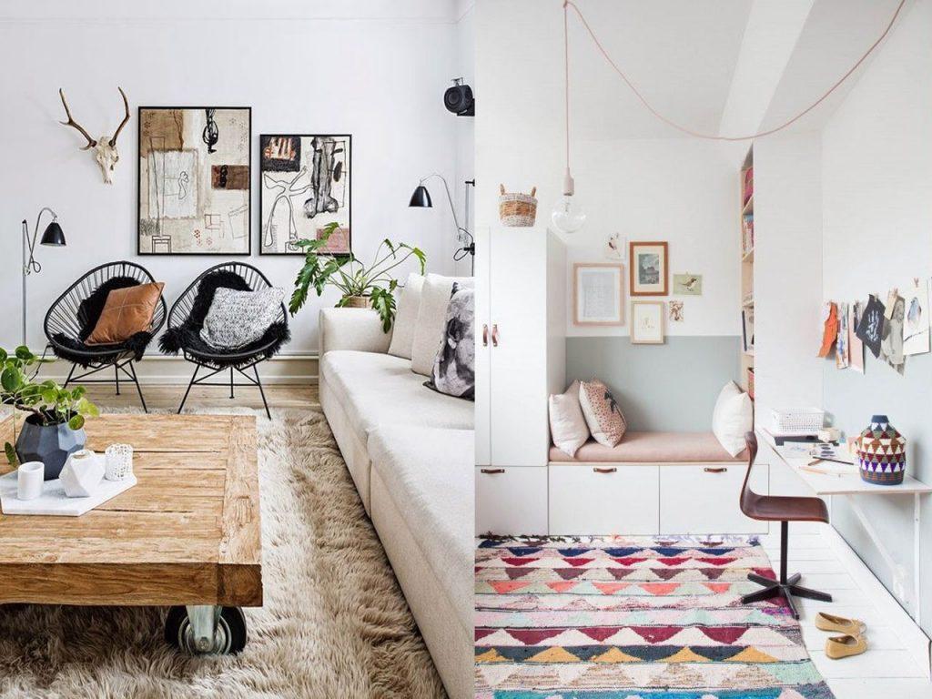 alfombras decoración de casas acogedoras
