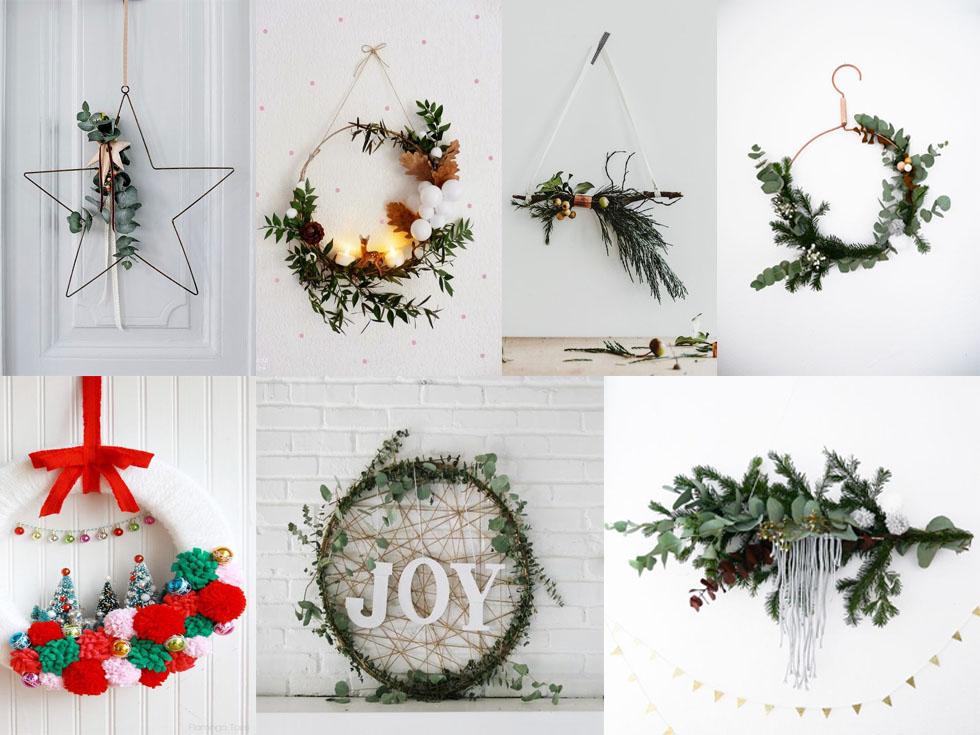 7 coronas de Navidad originales para adornar tu casa