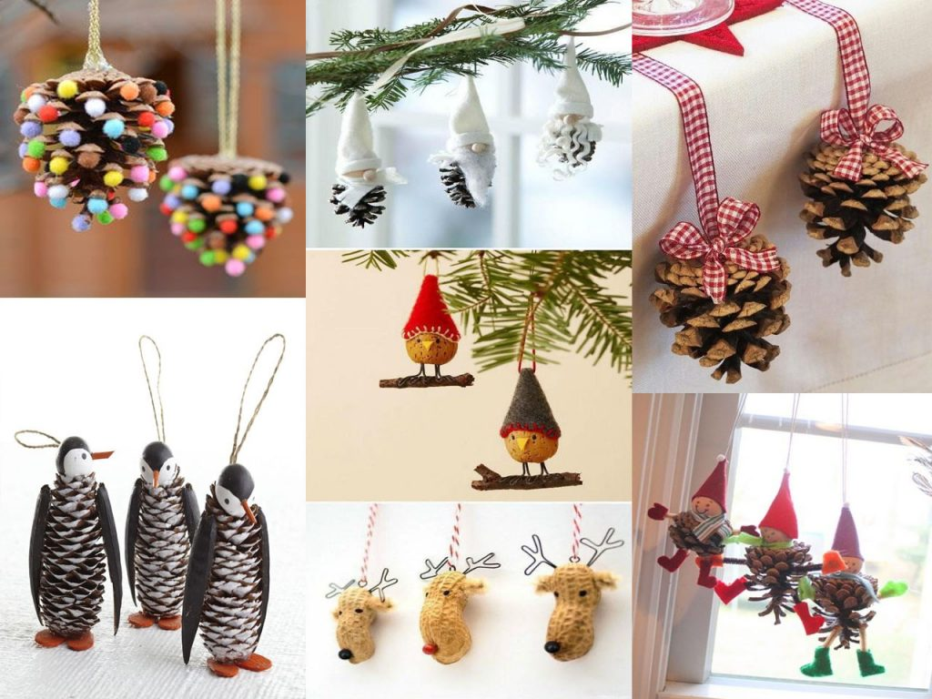 decoración natural navideña