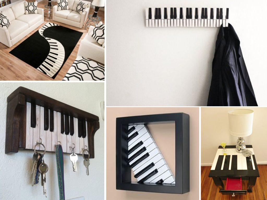 decoración musical teclados