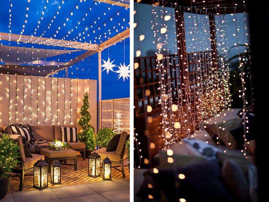 decoracin navidea para balcones luces de navidad - Decoracion Balcones