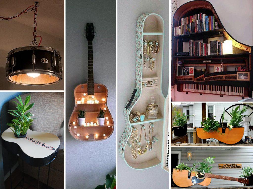decoración musical reutilizar