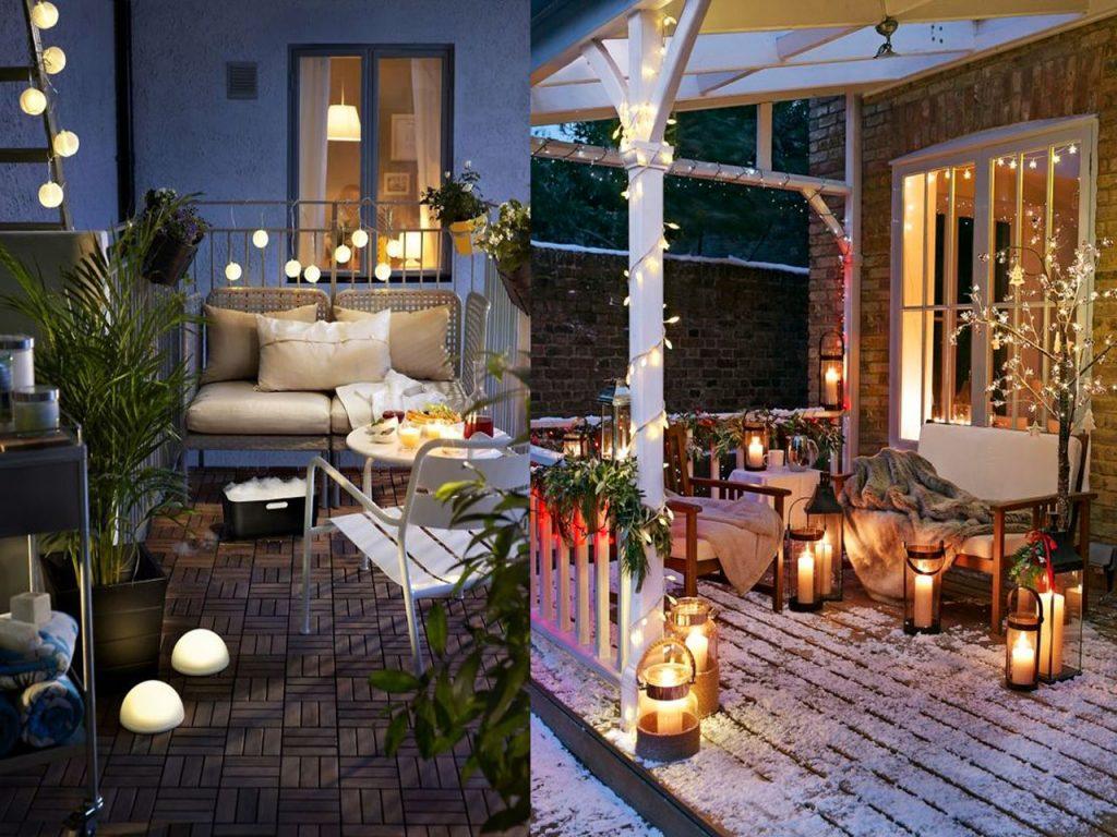 decoración terraza iluminación