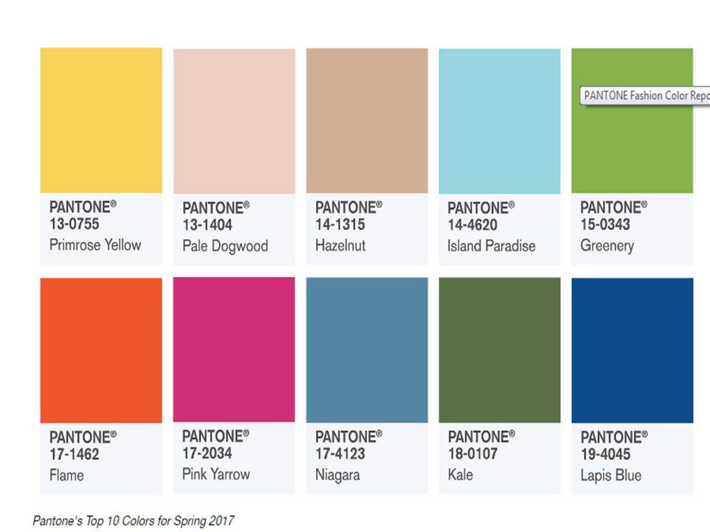 Los 10 bonitos colores pantone para primavera 2017 - Nombres de colores de pinturas ...