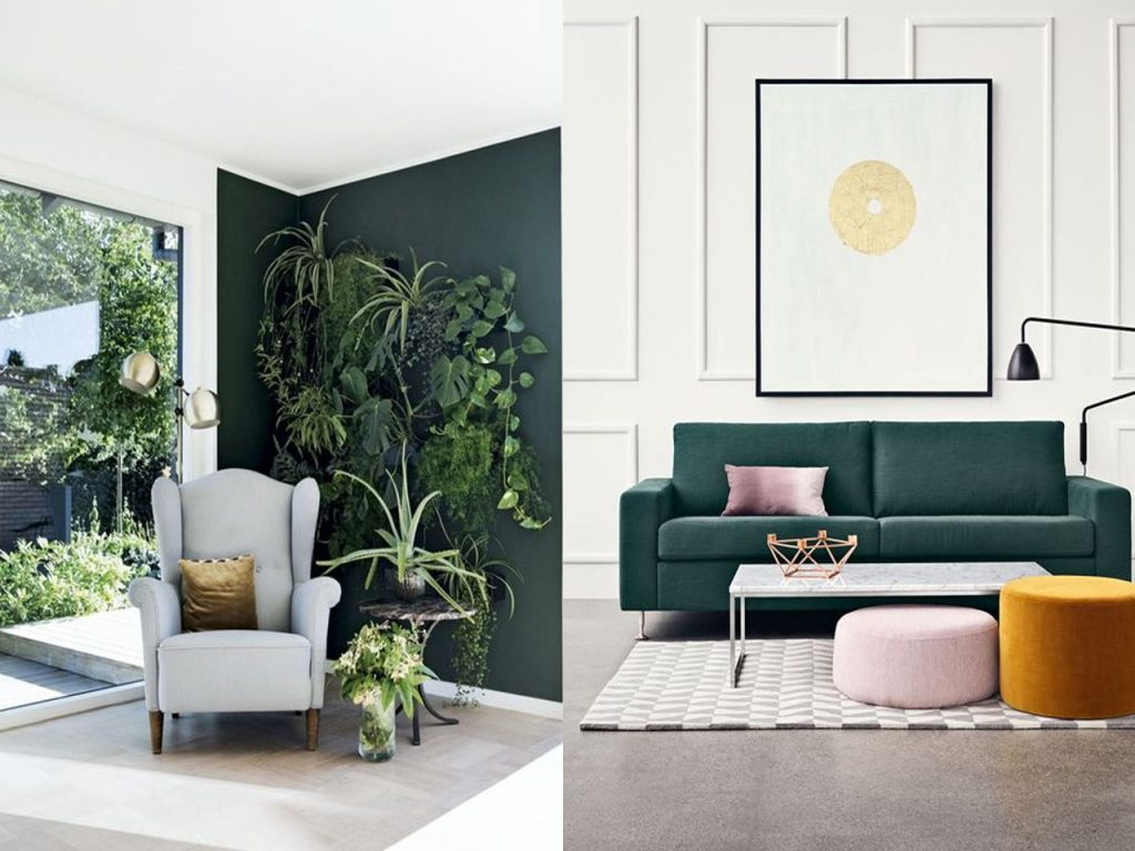 decorar en color verde pantone 2017