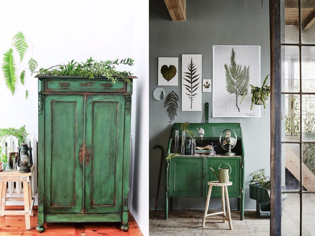 decorar en color verde chalk paint