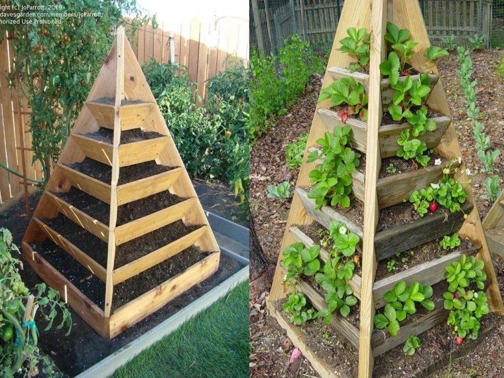 huerto en casa pirámide de cultivo