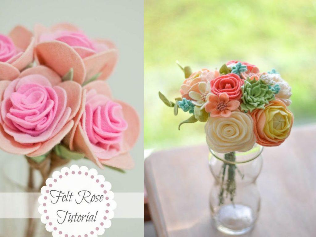 decoración con rosas ramo verano