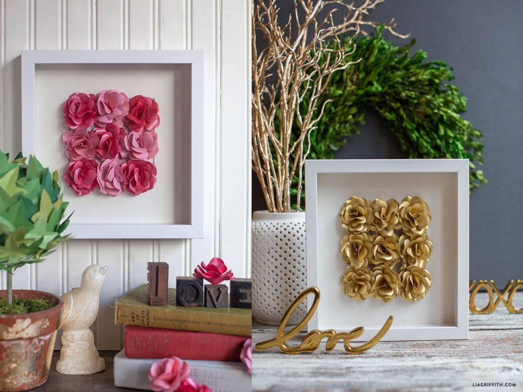 decoración con rosas foto