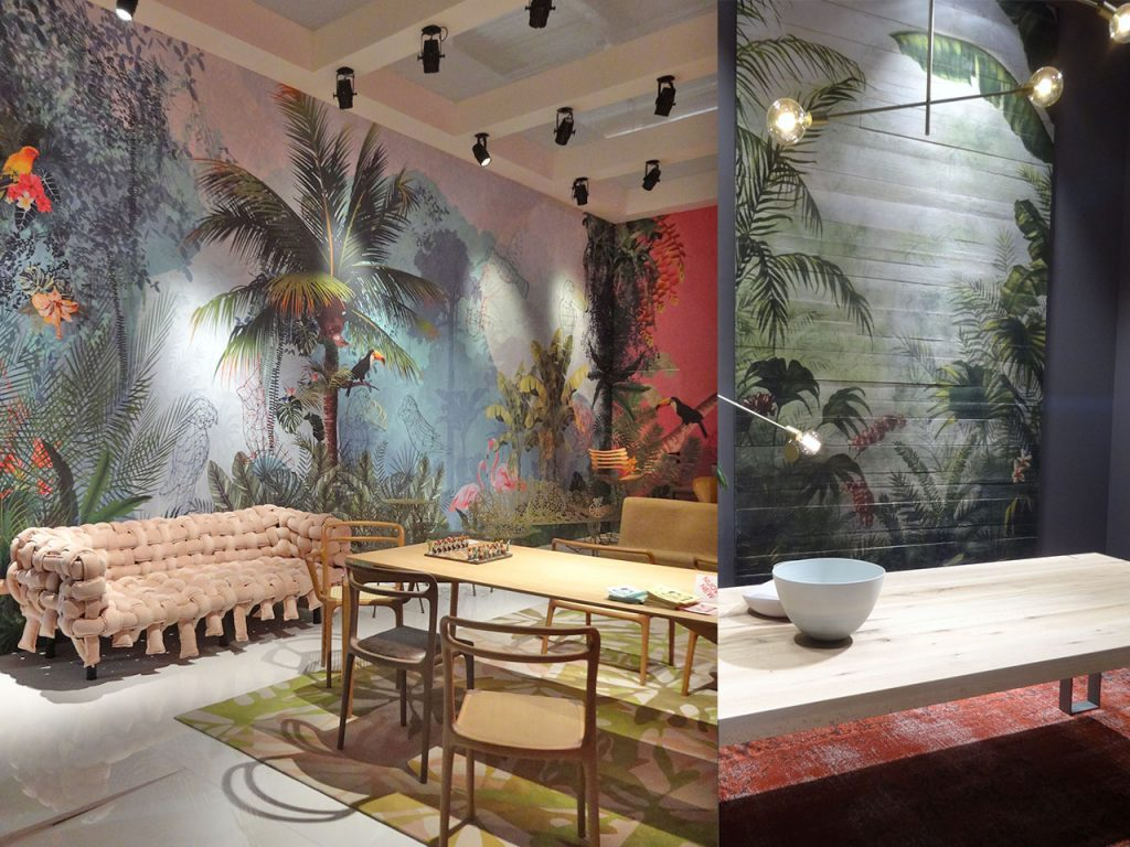tendencias decoración 2017-2018 paredes tropicales