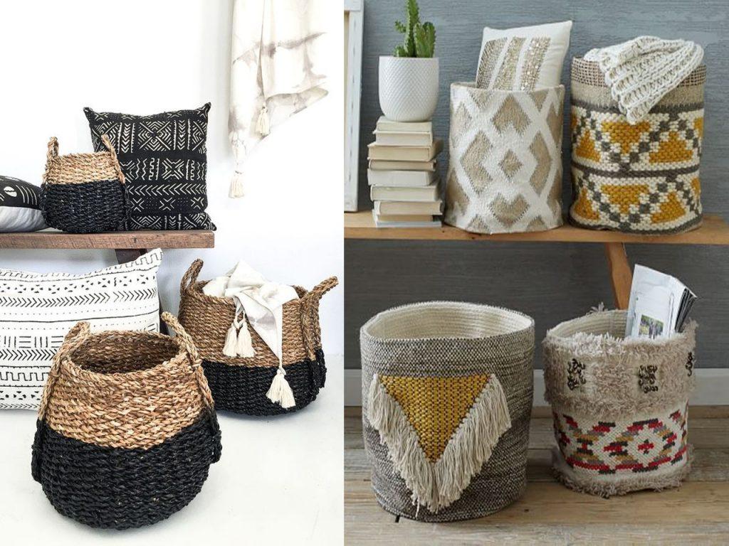 complementos decoración cestos
