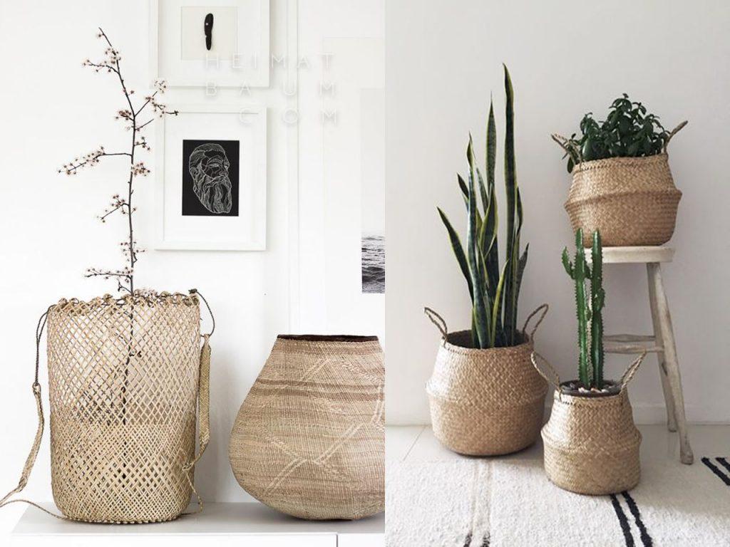 complementos decoración cesta toque bohochic