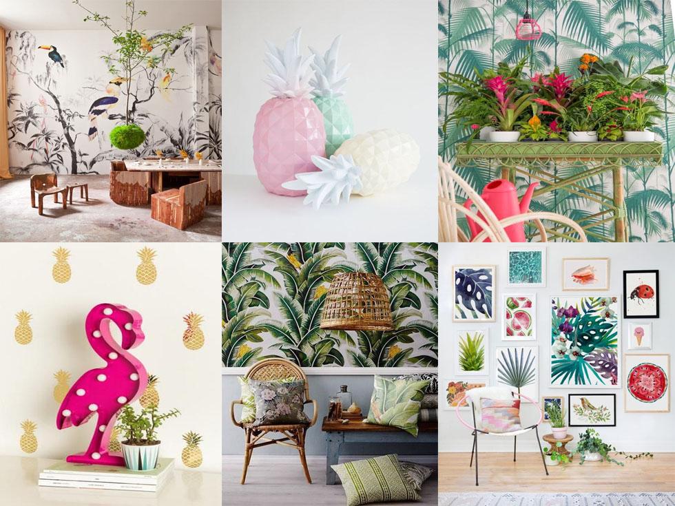 La mejor decoración tropical para el salón