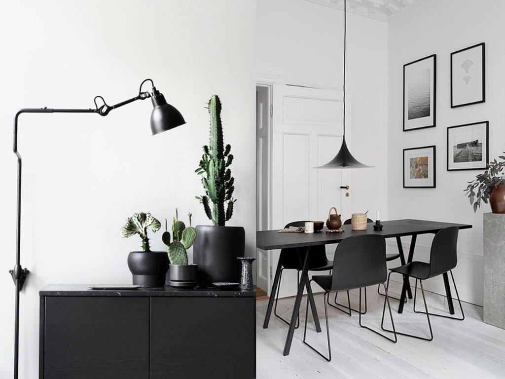 muebles en negro blanco y negro