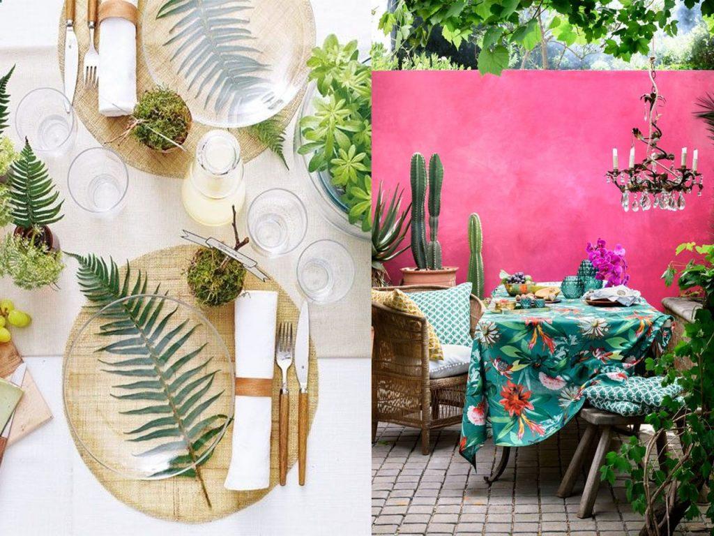 complementos decoración tropical