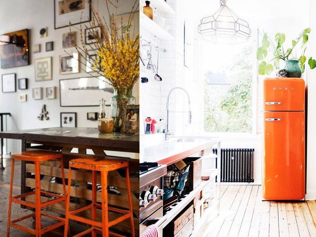 ideas para la decoración naranja en nuestras cocinas